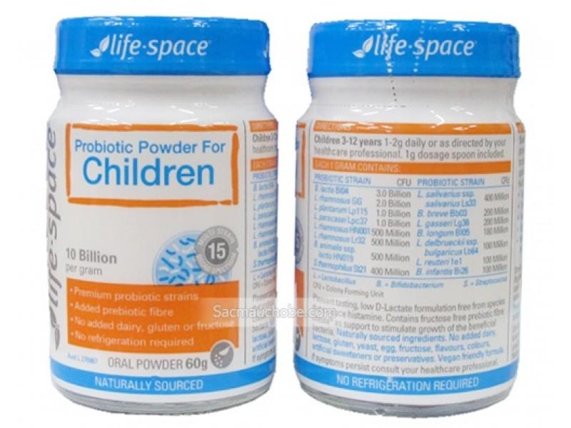 Men vi sinh Úc Life Space Children (60g) (3-12 tuổi)
