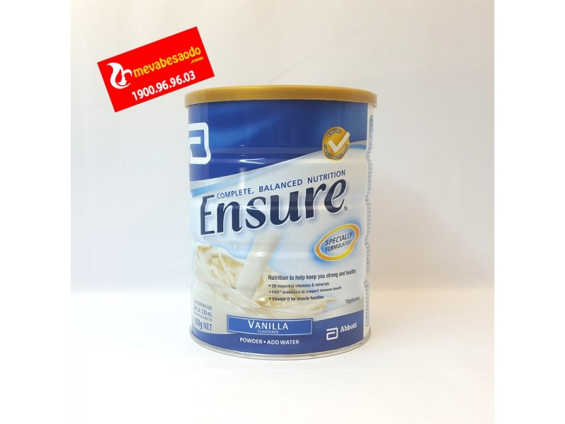 Sữa Ensure Úc vị Vani 850g