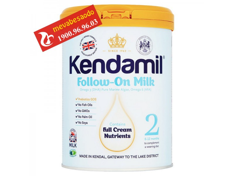 Sữa Kendamil anh quốc số 2 900g