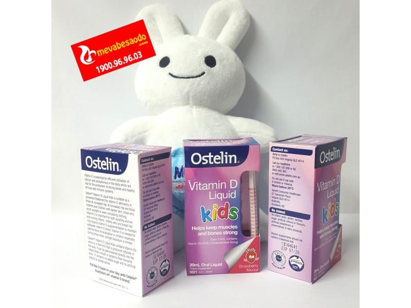 Vitamin D Ostelin dạng nước 0-12 tuổi