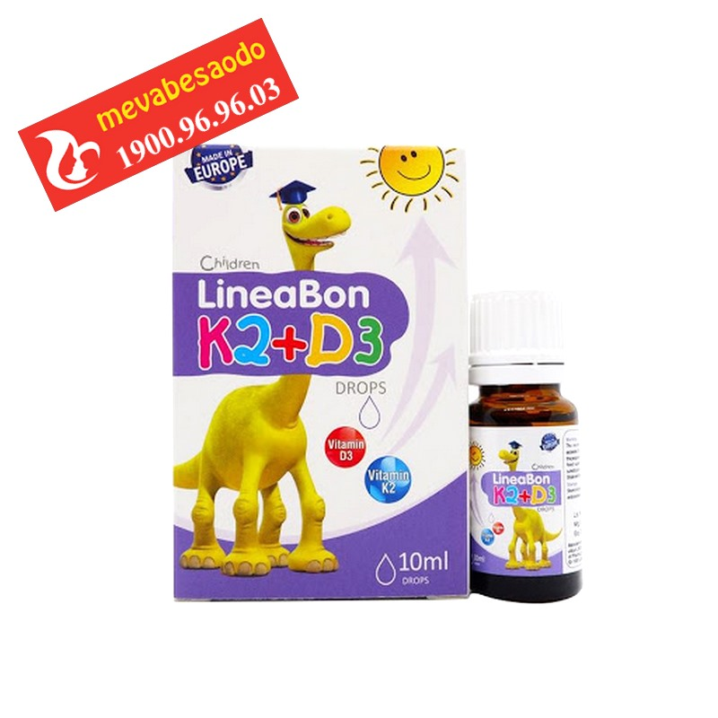 Vitamin Lineabon K2+D3 tăng chiều cao cho trẻ sơ sinh